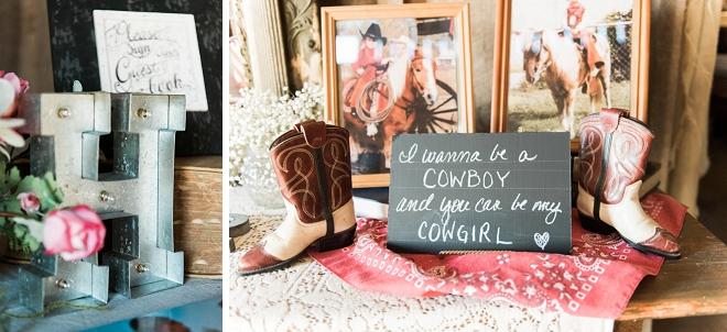 Darling details at this rustic barn wedding!