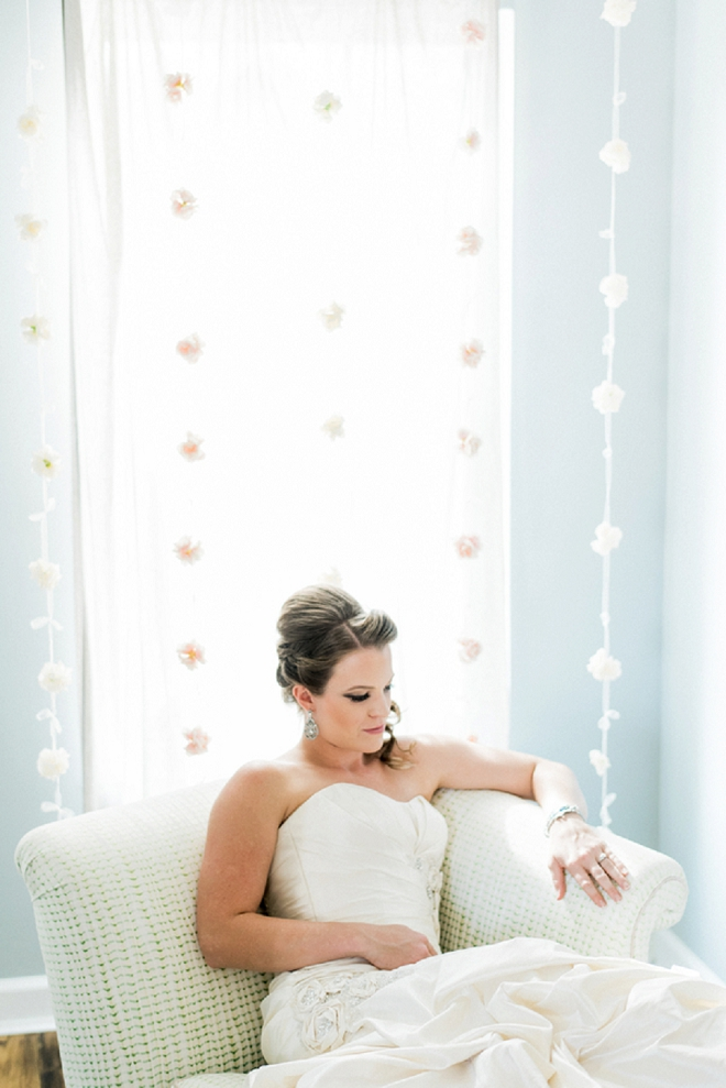 We LOVE this snap of the Bride before the first look with her Groom!