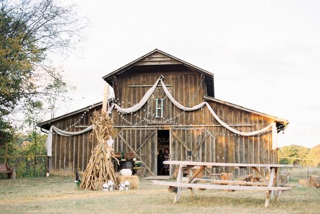 We love this stunning handamde barn reception!