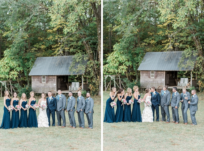Such a cute snap of the wedding party after the ceremony!