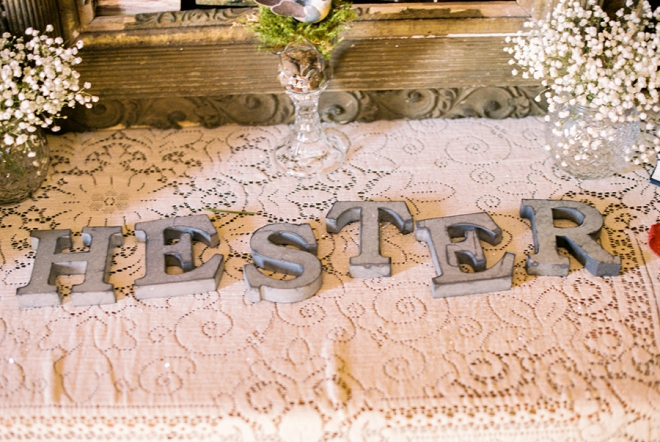 Darling monogram details at their reception!
