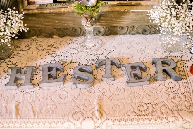 Darling monogram details at their reception!