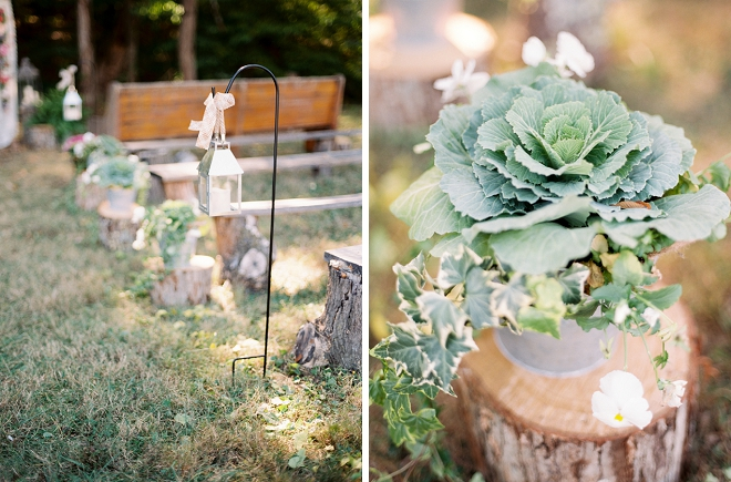 Darling details made this outdoor ceremony so sweet!