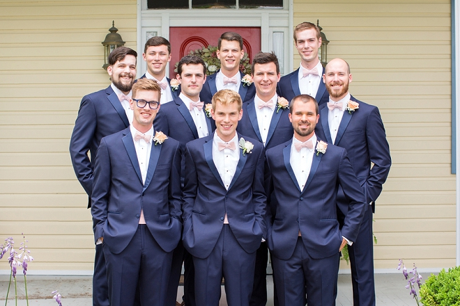 The Groom and his Groomsmen before the ceremony!