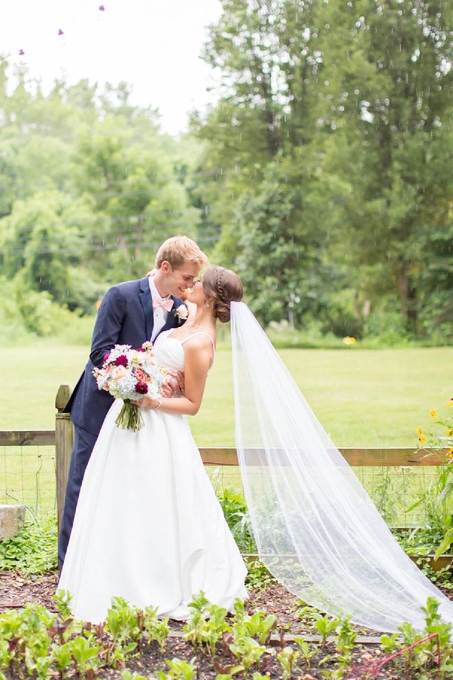 We're crushing on this darling Mr. and Mrs and their stunning wedding!