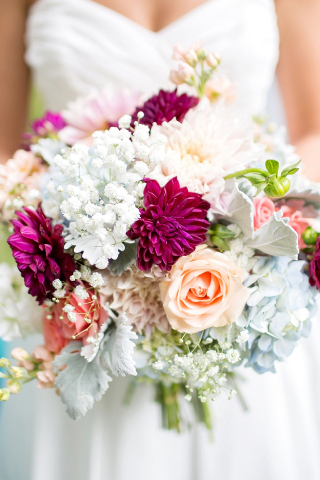 Check out this Bride's stunning wedding bouquet!