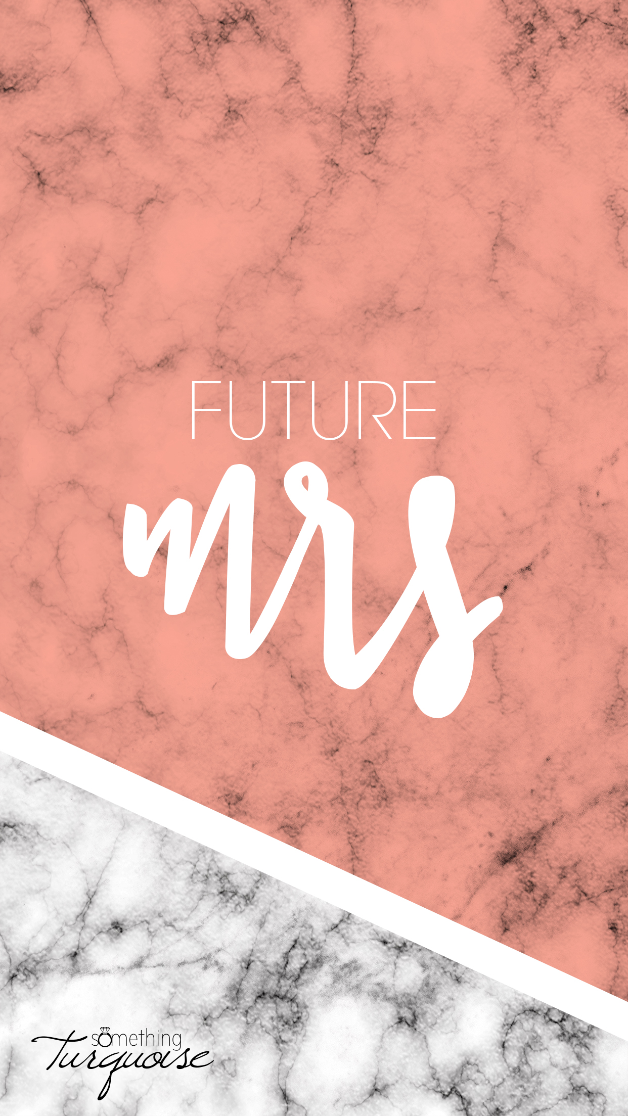 FREE coral Future Mrs iPhone wallpaper!