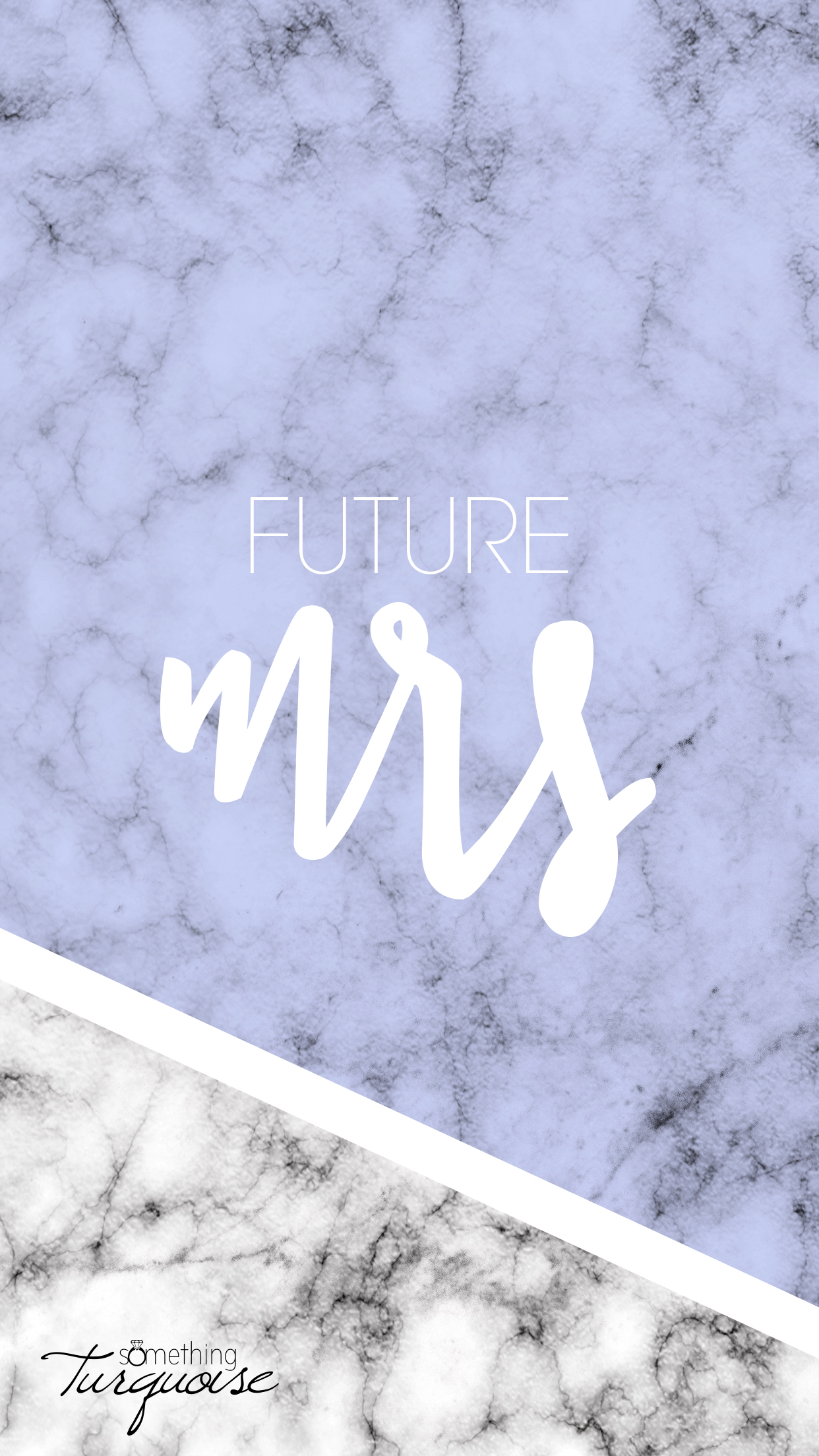FREE lavender Future Mrs iPhone wallpaper!