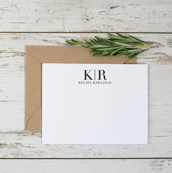 As a new bride, you'll be writing plenty of thank you notes!