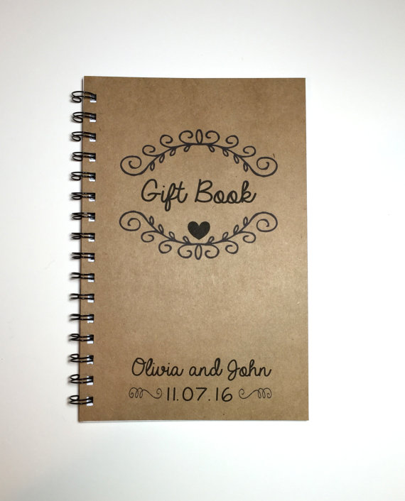 Keep up with all of your wedding gifts in this darling Gift Book journal!