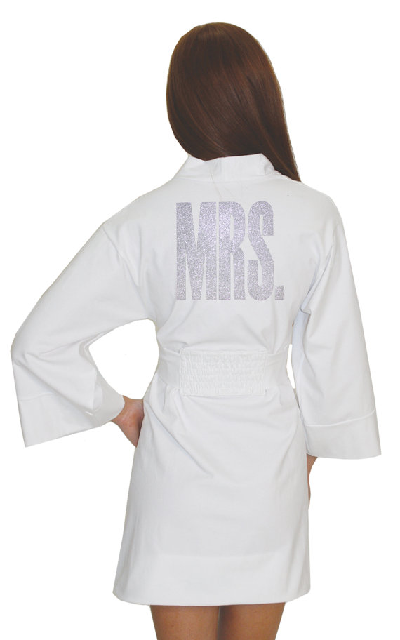 As a NEW bride to be you need a Mrs robe!