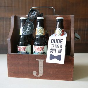 Awesome, free printable groomsmen beer gift tags!