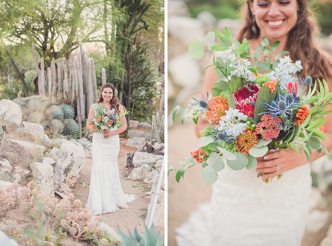 Crushing on this gorgeous Bride's style not to mention that stunning bouquet!