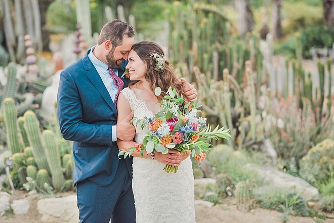 We're crushing on this darling couple and their stunning handmade California wedding!