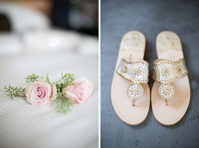The Bride's darling wedding day details are our favorite!