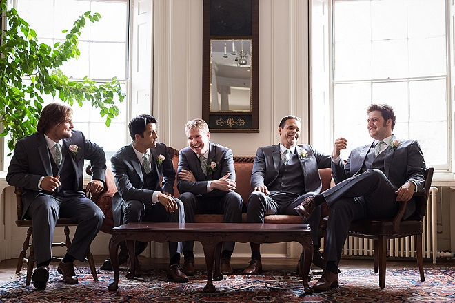 The handsome Groom and Groomsmen before the ceremony!