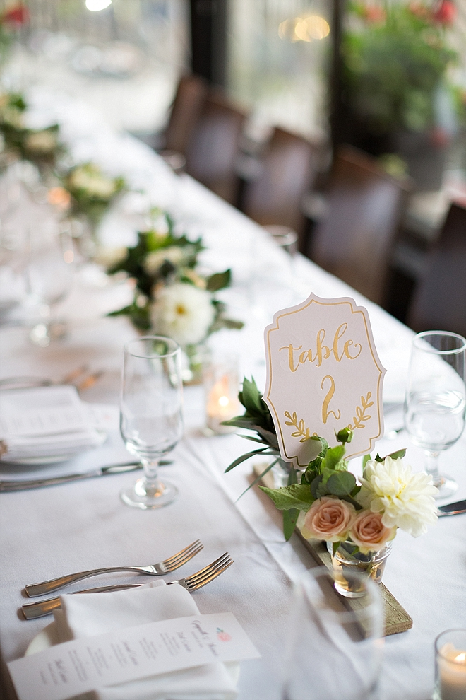 Love this couple's stunning handmade centerpieces!