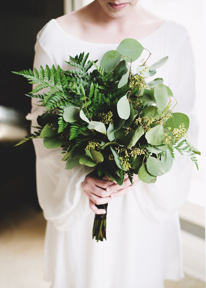 Bouquets without flowers can be just a lovely.