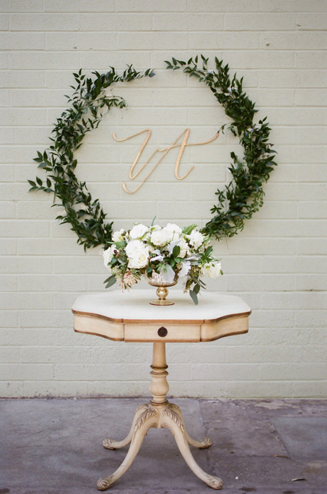 Greenery as wall decor is on trend.