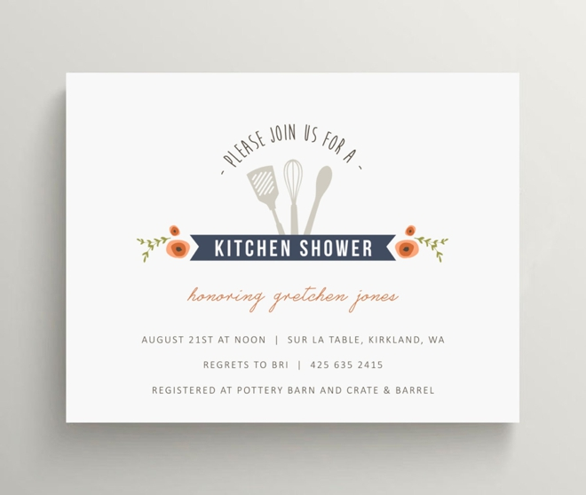 Kitchen Bridal Shower Invitation Set by Olive and Star