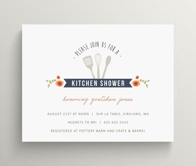 Kitchen Bridal Shower Invitation Set by Olive and Star