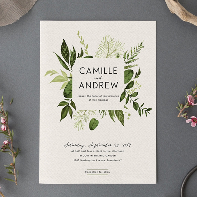 Woodland Wedding Invitation Set by Pretty Little Papers
