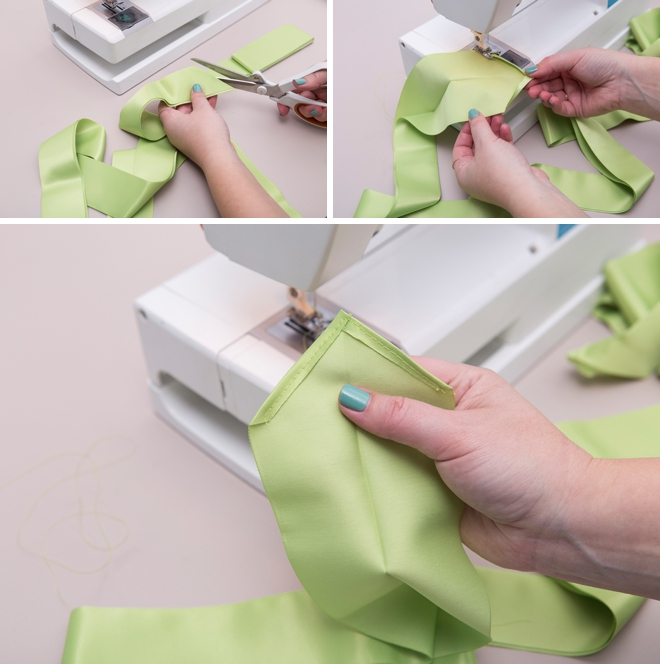 Learn how to sew this simple apron and then have your bridal shower guests sign it for the cutest guest book!