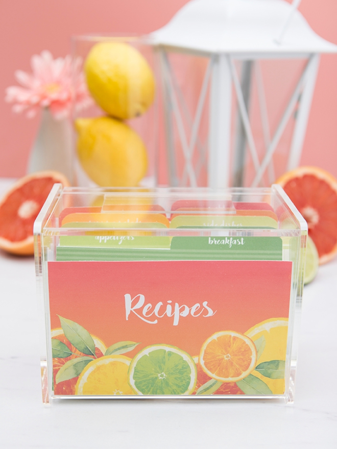 Wedding Shower Gift Card Box : Check Out These Adorable, Citrus Recipe Box Printables!