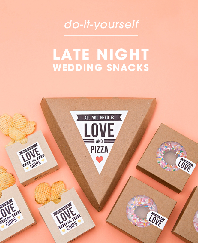 Check out these adorable late night wedding snack ideas!