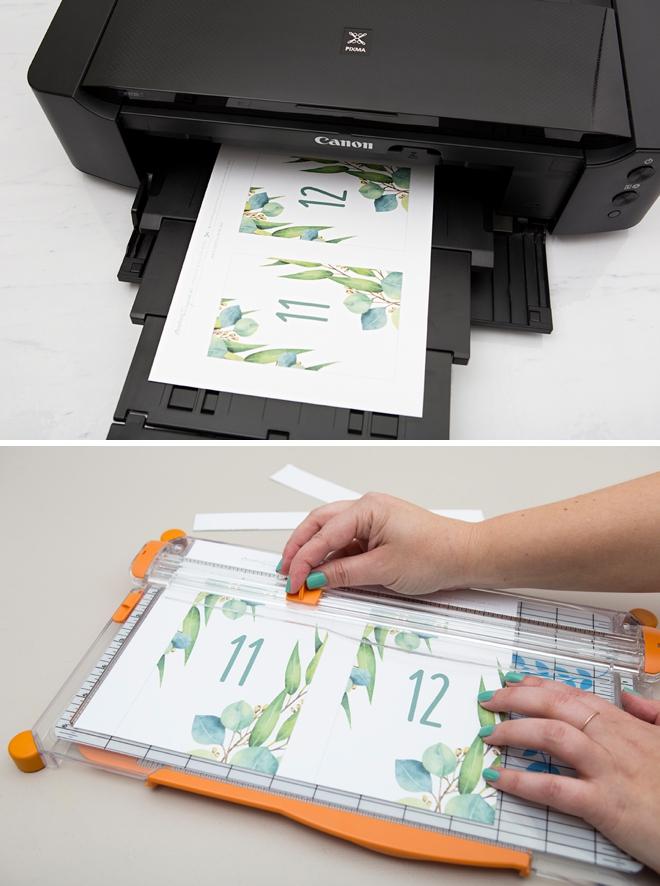 Darling gratuit table à imprimer avec un thème d'eucalyptus!