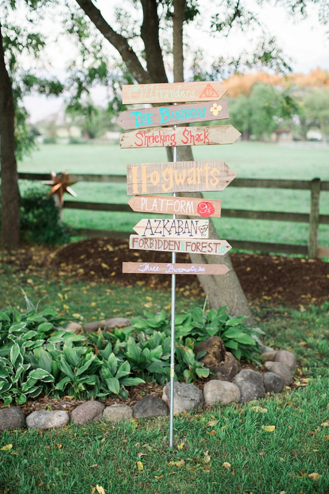 We're crushing on this darling couple and their handmade backyard wedding filled with fun book details!
