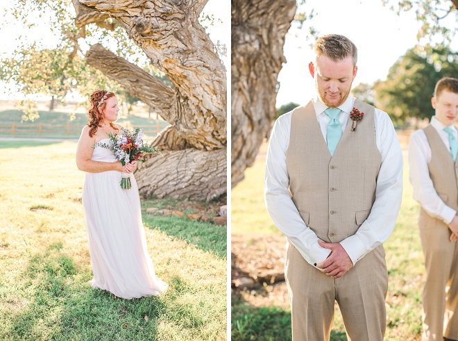 We love this couple's intimate backyard wedding!