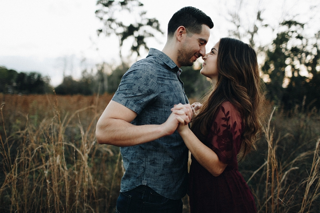 We love these gorgeous and sweet snaps of our new Bridal Blogger and her soon-to-be Husband!