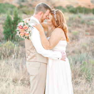 We are crushing on this backyard wedding!