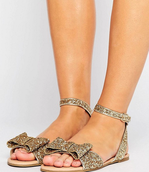 OMG my bridesmaids need these for my wedding! And they are under $30!! Sparkly gold #weddingshoes