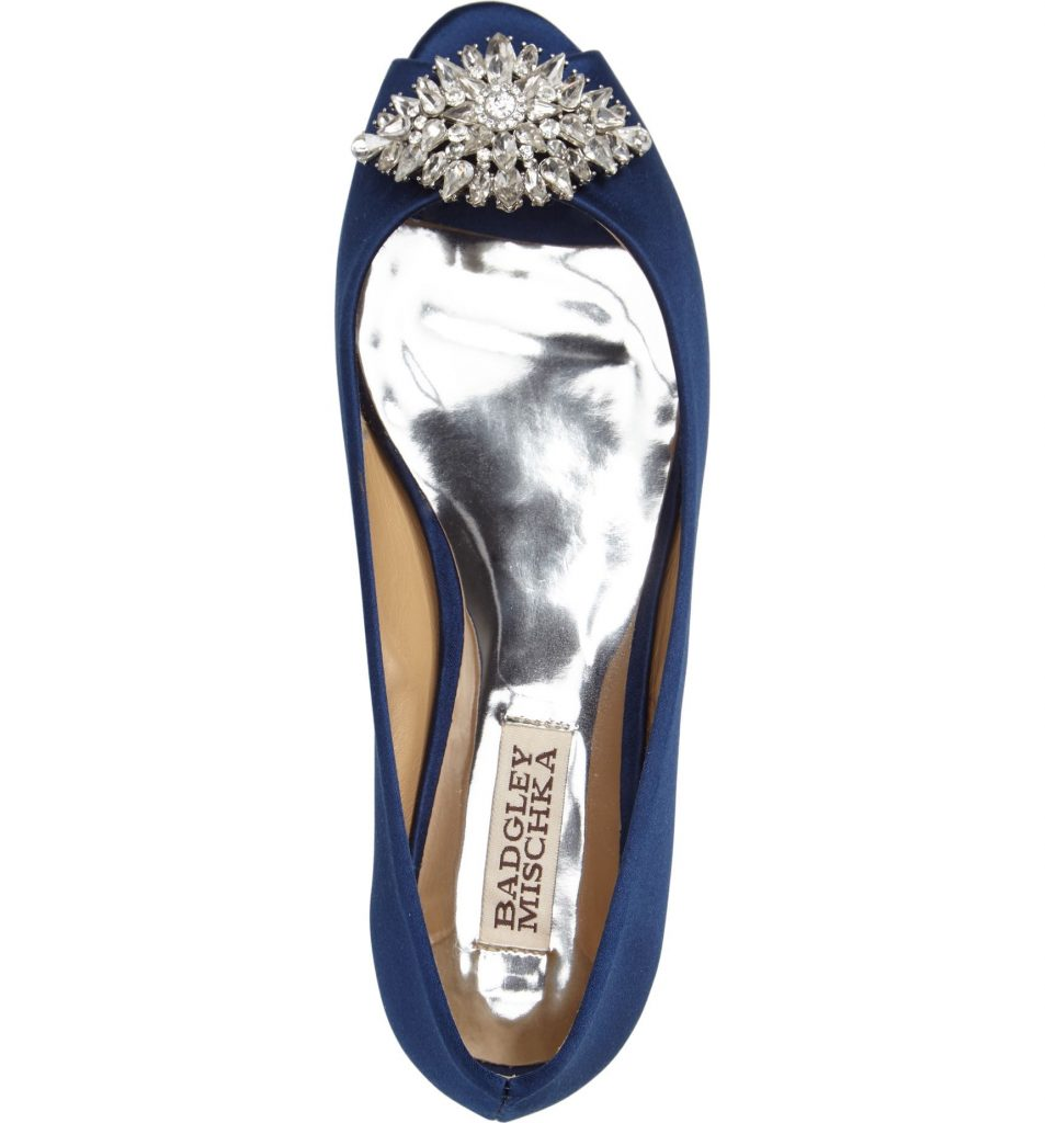 "These Bradgley Mischka Taft Peep Toe Flats are a great ""something blue"" for a wedding! So pretty!"