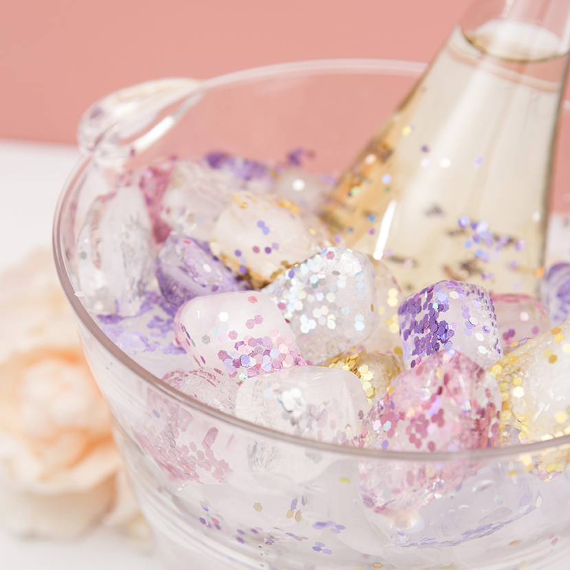 Learn How To Make Gorgeous Glitter Ice Cubes For Chilling