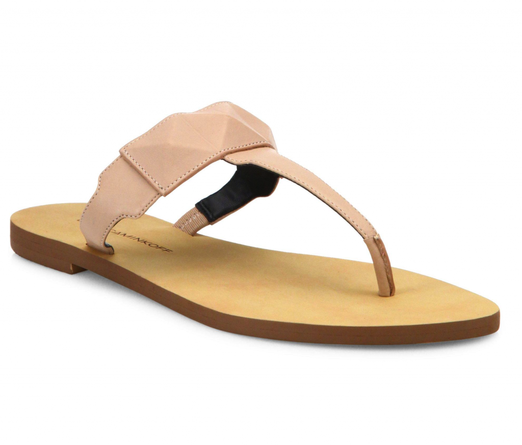 These would be great wedding sandals because you can wear them again after you get married! Rebecca Minkoff Eloise Leather Thong Sandals