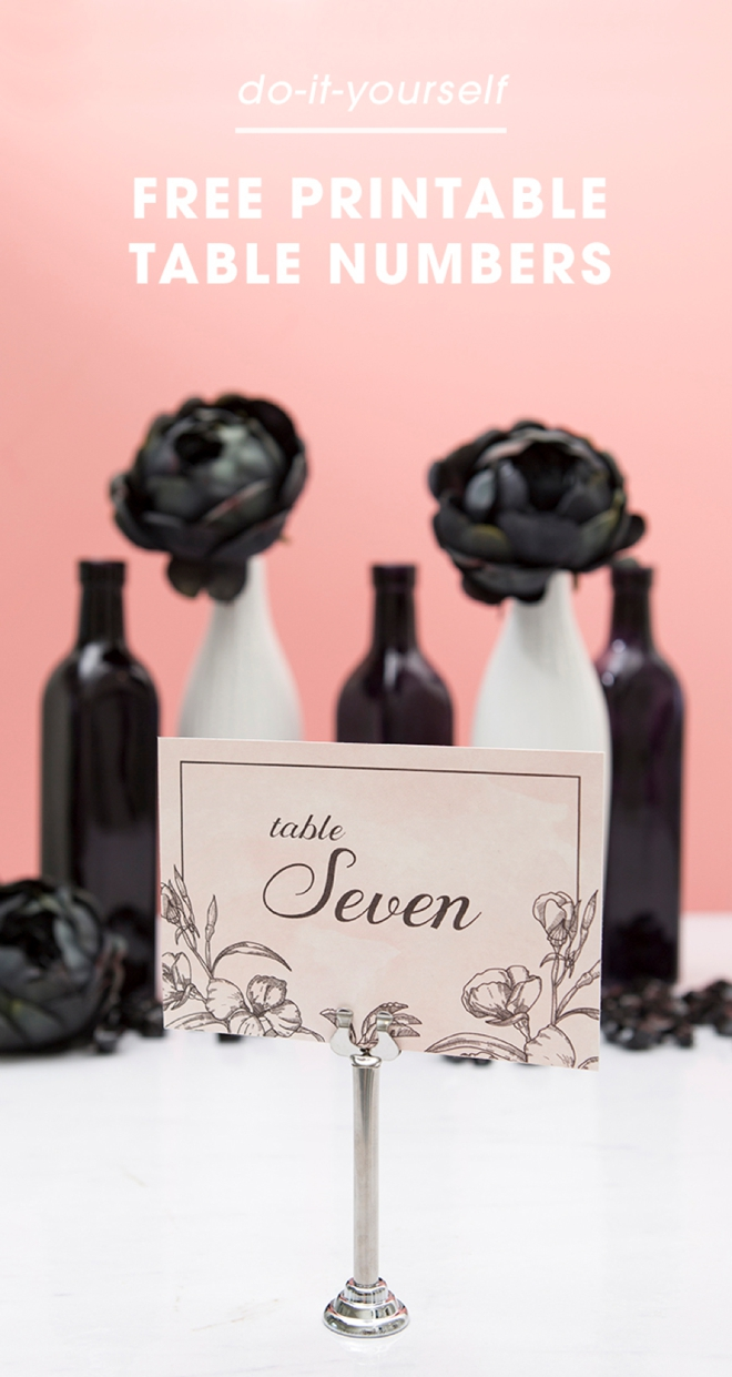 Check Out This Chic, Floral Table Numbers That You Can Print For FREE!