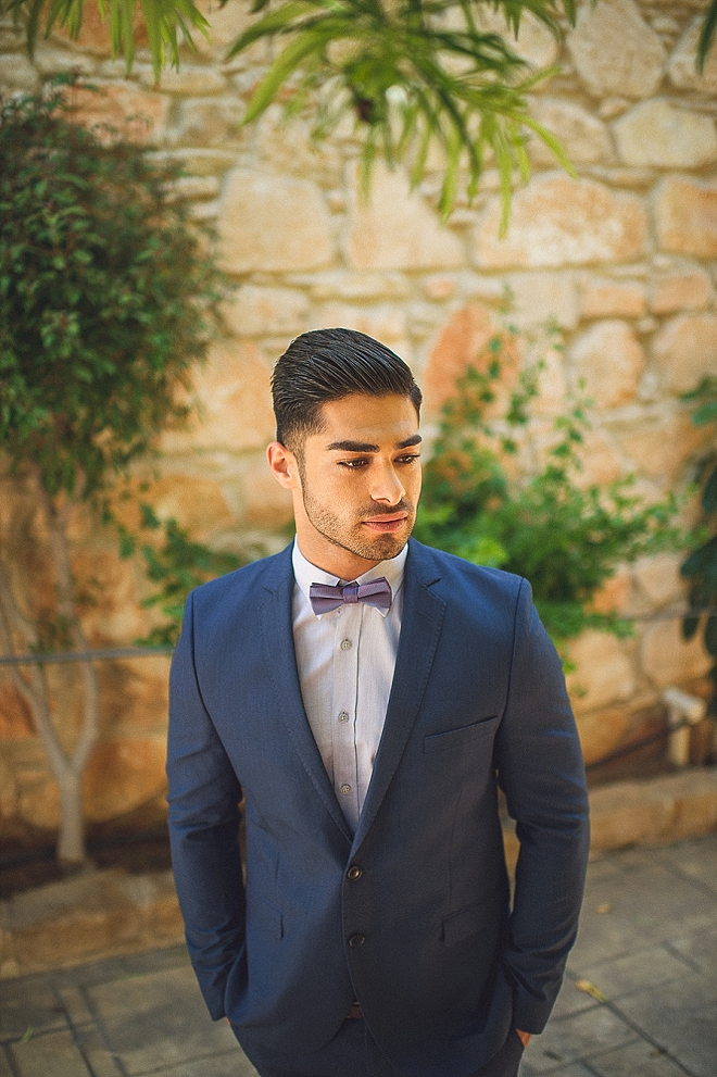 We're loving this Groom's handsome wedding day style!