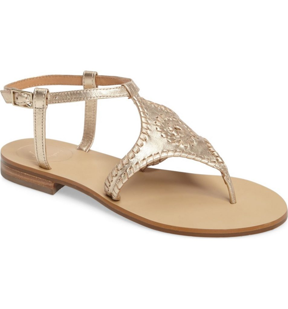 Awesome wedding sandals: Maci Flat Sandal by Jack Rogers.