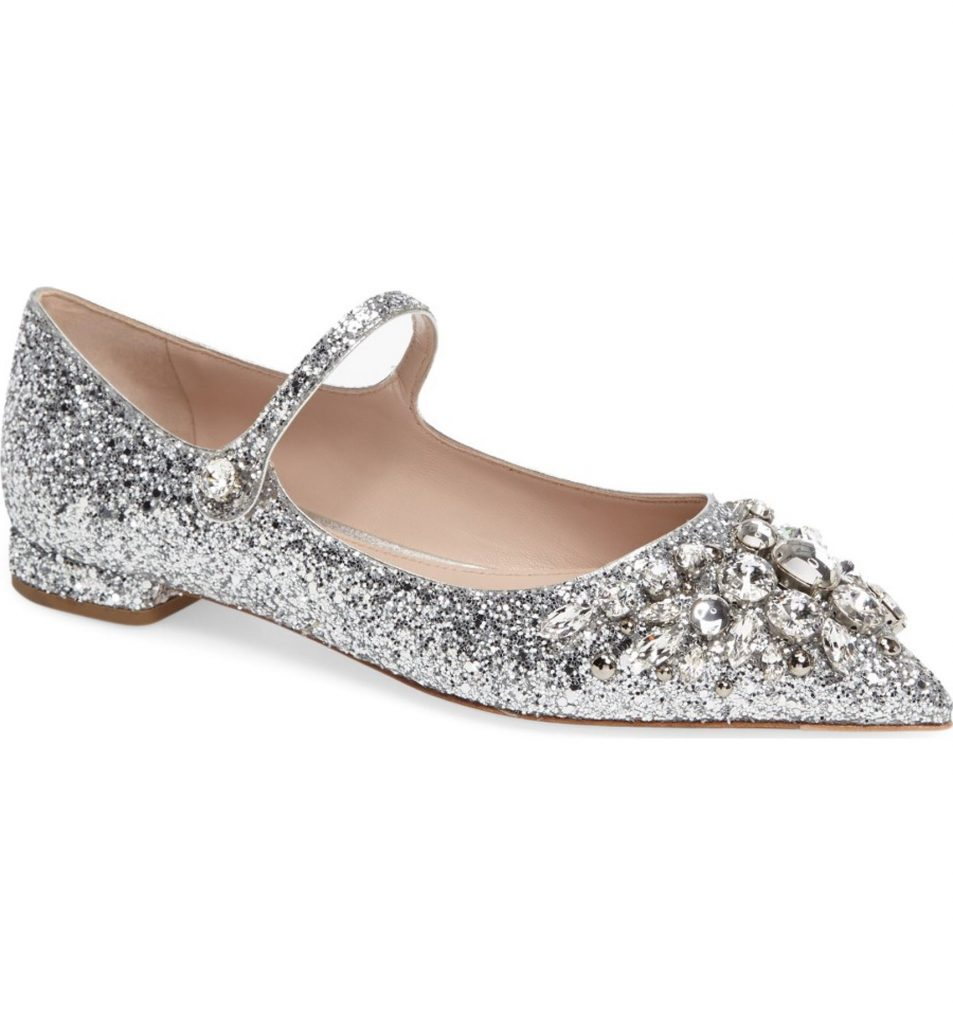 These Miu Miu Crystal flats are what wedding dreams are made of! #weddinginspo