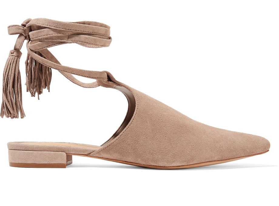 OMG I want these mules for my wedding! I love the idea of wearing flats when I get married.