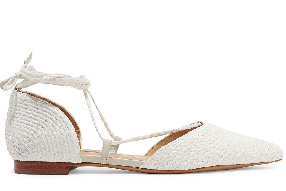 These white flats would look so good on a bride!