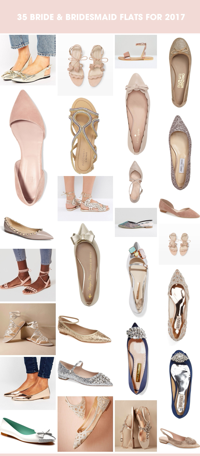 These are the BEST bride and bridesmaid flats for your 2017 wedding event!
