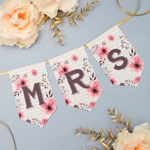 FREE Printable, Floral Design Alphabet and Number Banner!