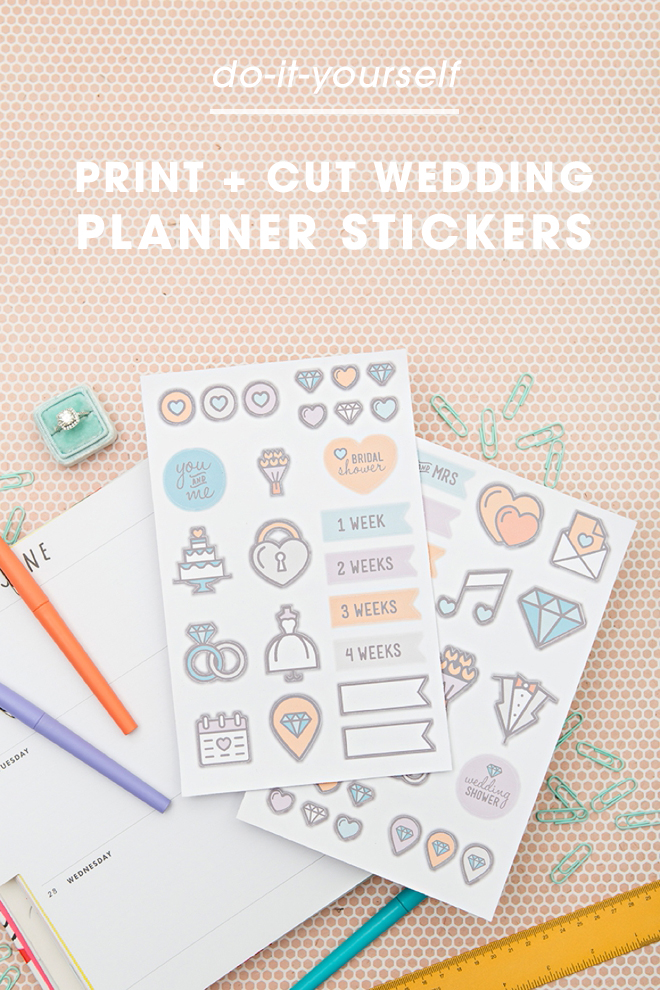 How adorable are these diy wedding planning stickers