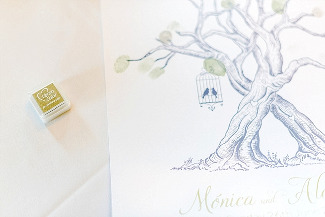 Loving this cute thumbprint tree guest book!