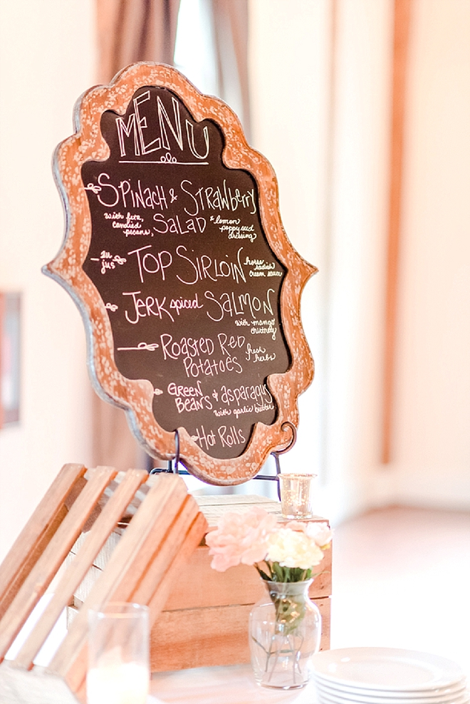 SO many darling details at this stunning DIY wedding reception!