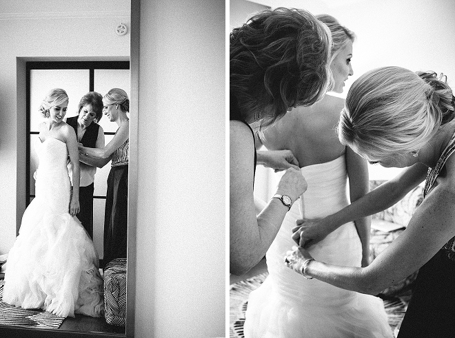 We're loving the snaps of this Bride getting ready for the first look!